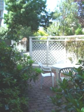 Private courtyard of a 3 bedroom apartment, Dunedin