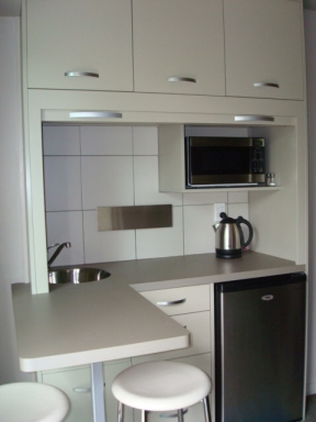 Studio apartment kitchenette
